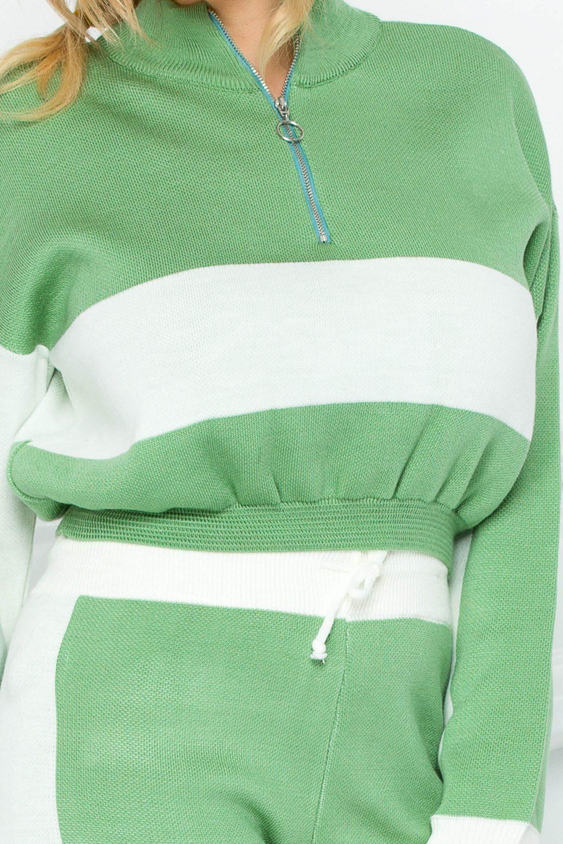 Πράσινο Πλεκτό Σετ London 9253 2