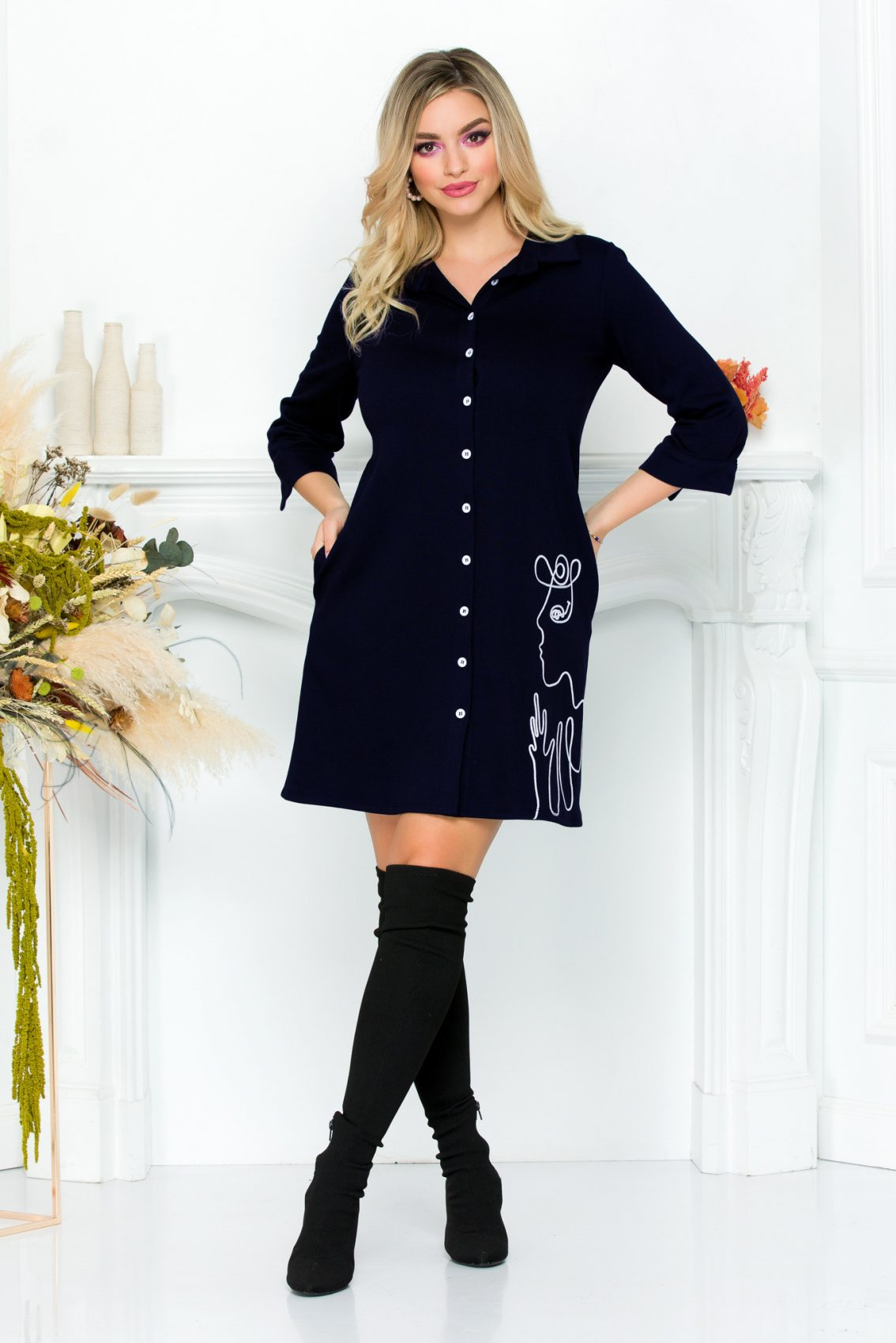 Dolyn Navy Dress