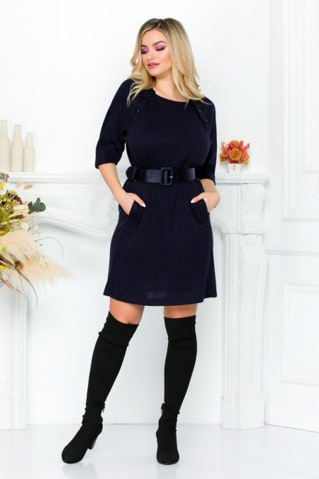 Cataleya Navy Dress