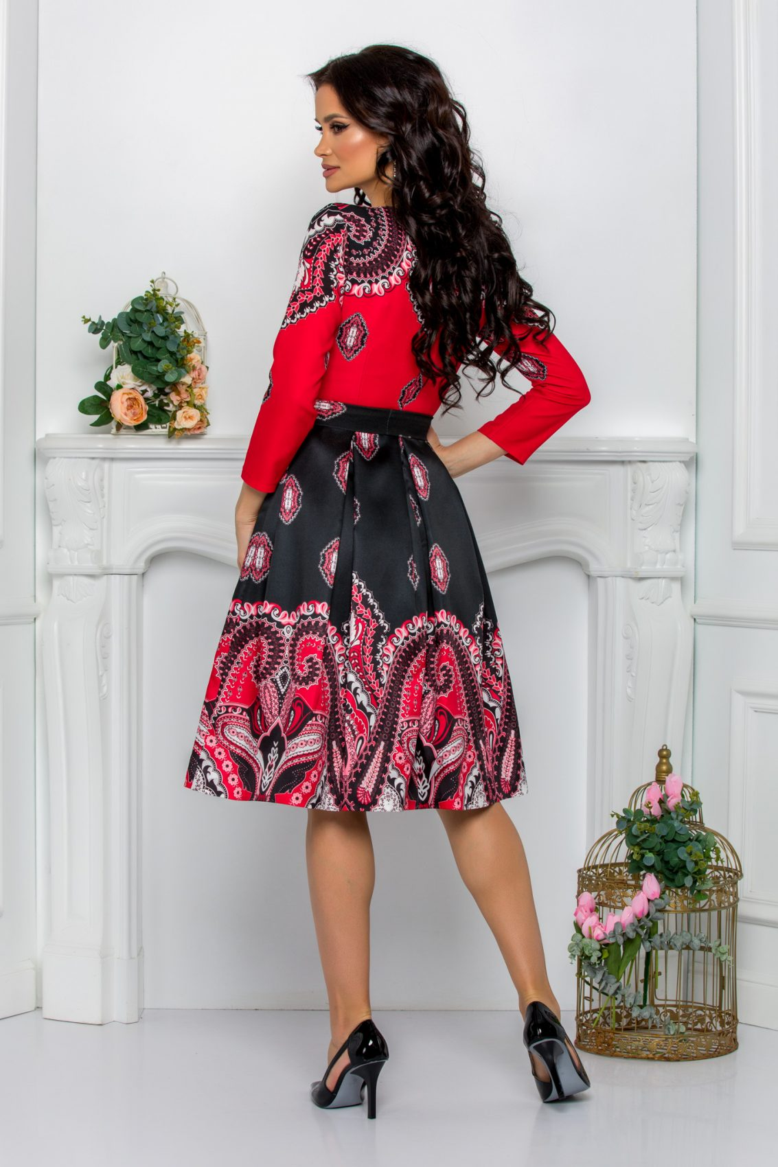 Κόκκινο Μίντι Κλος Φόρεμα Delicacy 9611 2