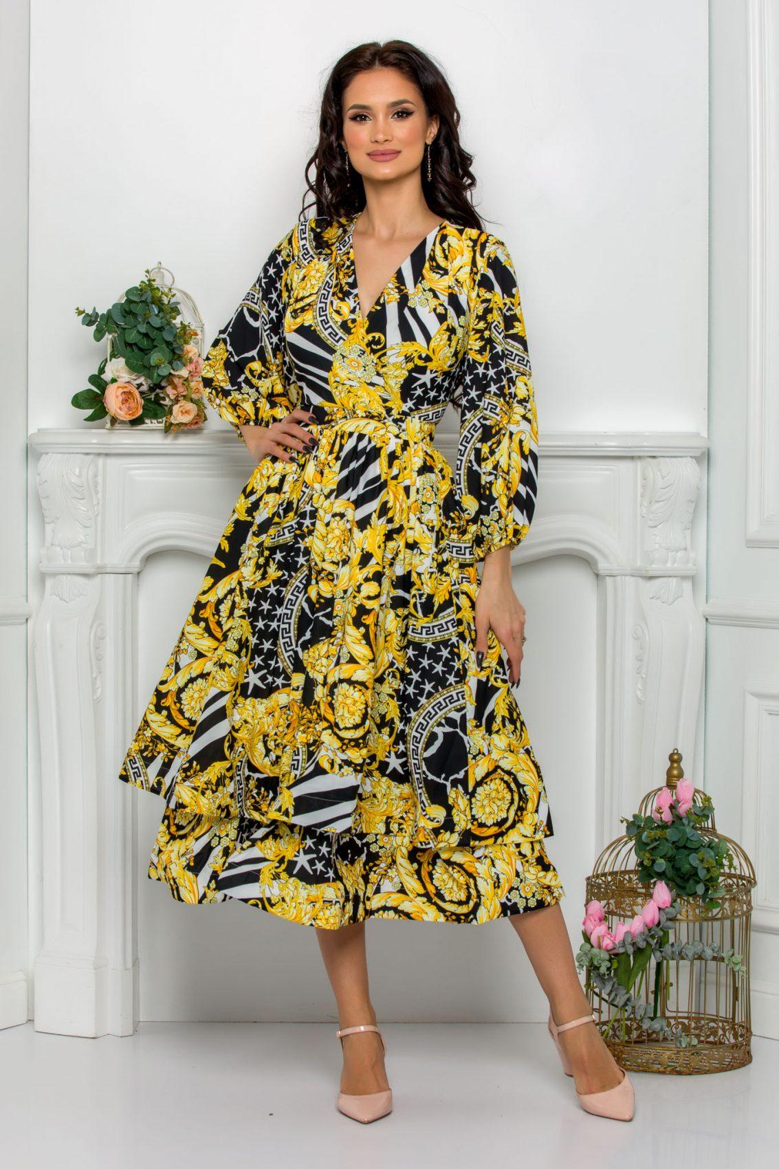 Midi Κρουαζέ Κλος Φόρεμα Jayla 8115 3