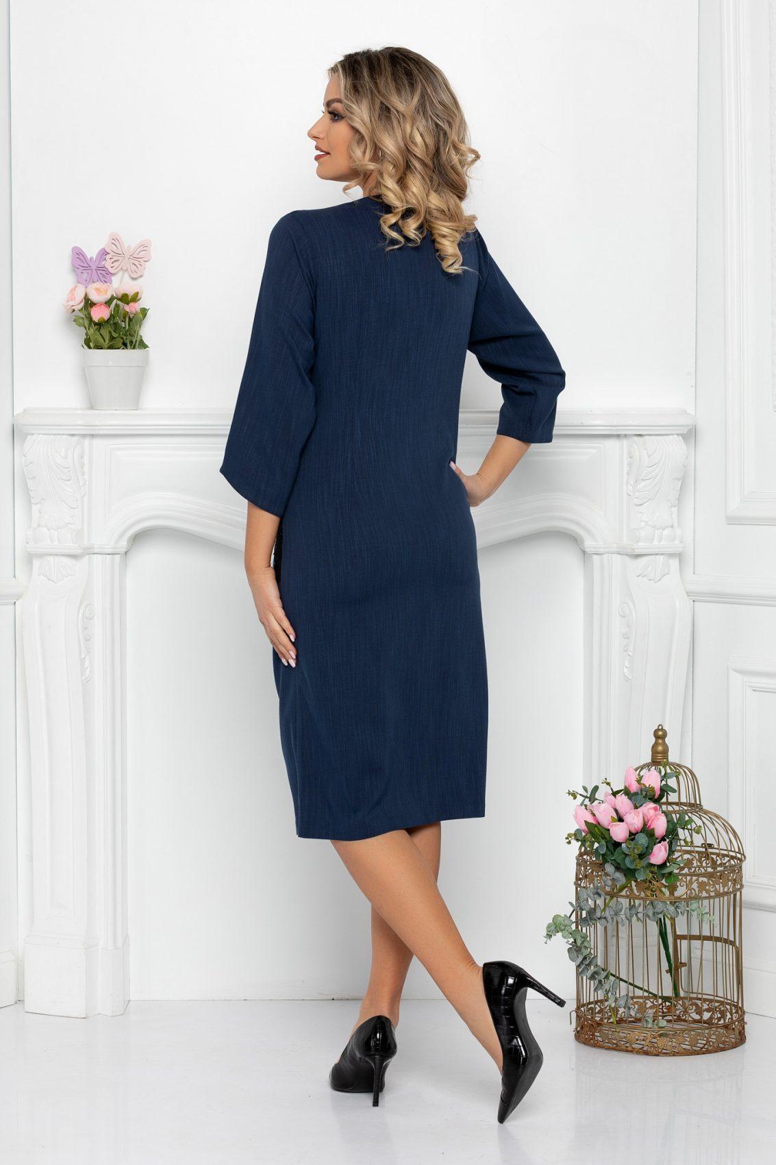 Μπλε Φόρεμα Με Δαντέλα Hadley 9410 2