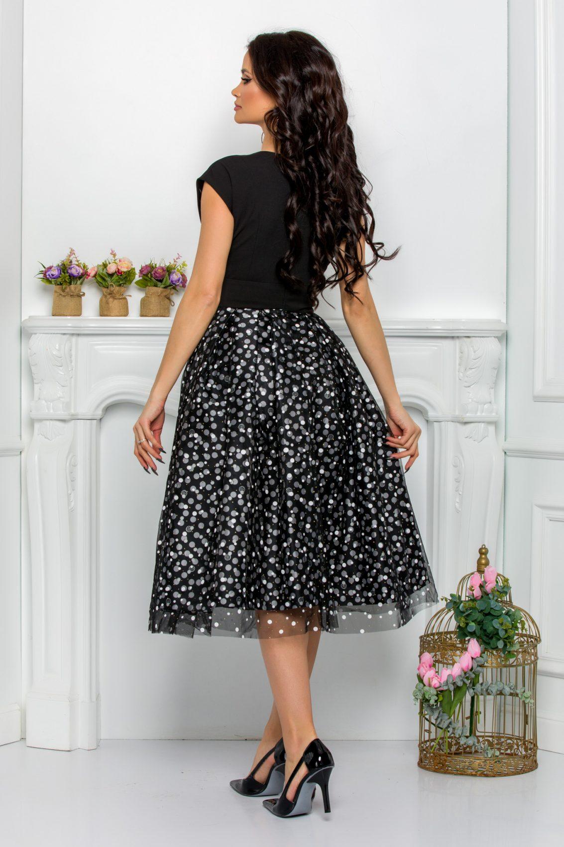 Μαύρο Βραδινό Φόρεμα Yessenia 8145 2