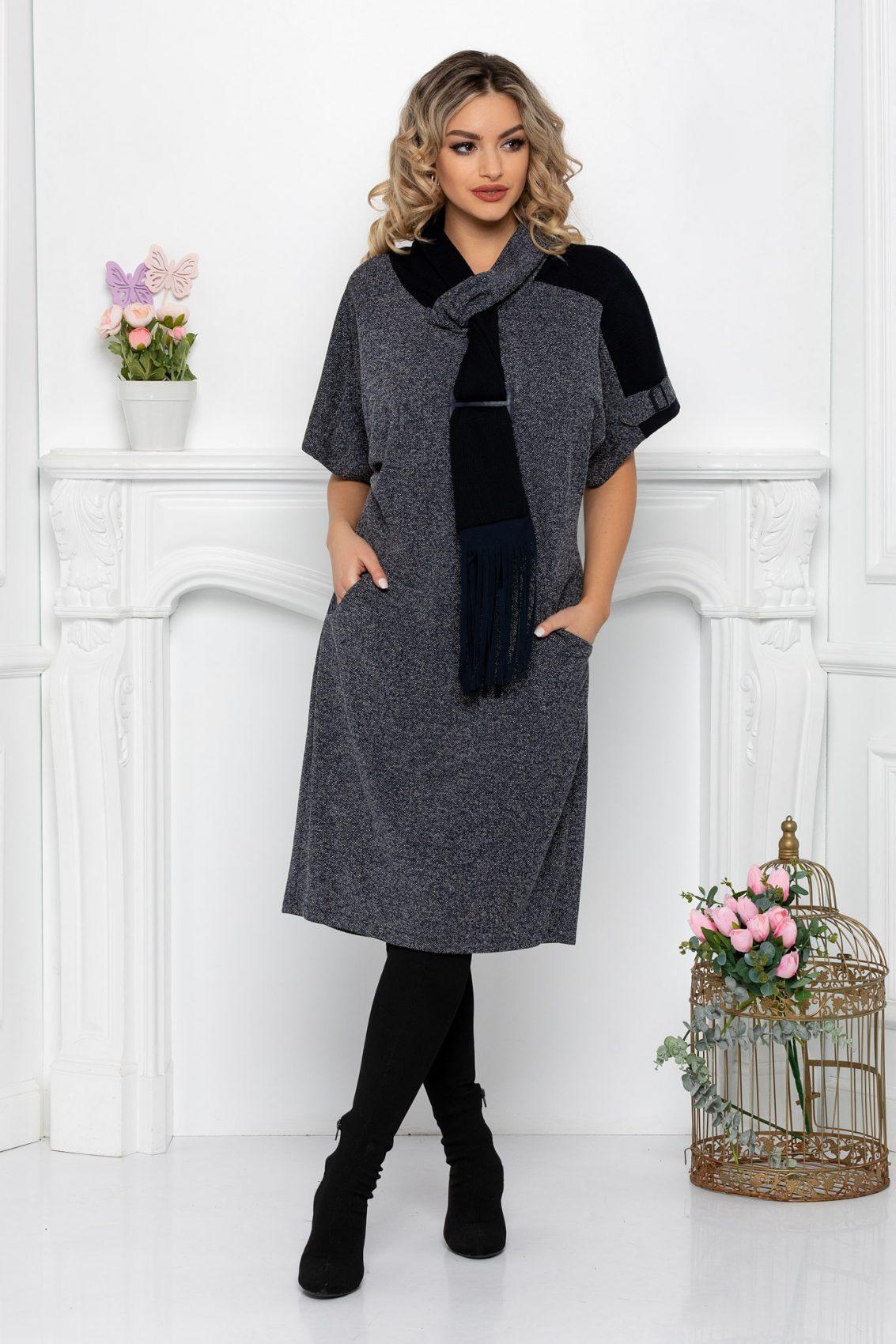 Φόρεμα Με Φουλάρι Plus Size Louise 9415 1