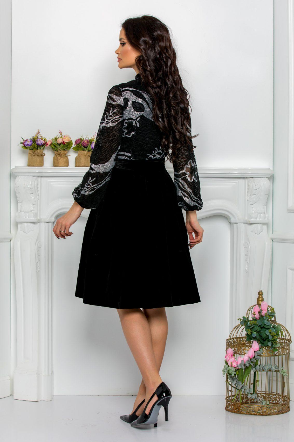 Μαύρο Βραδινό Φόρεμα Dyana 7136 2