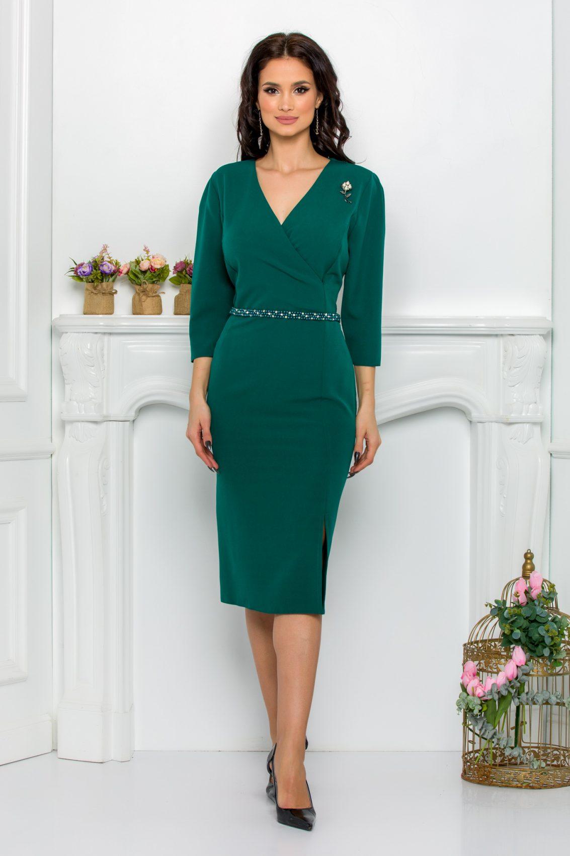 Πράσινο Φόρεμα Με Πέρλες Johanna 9550 1