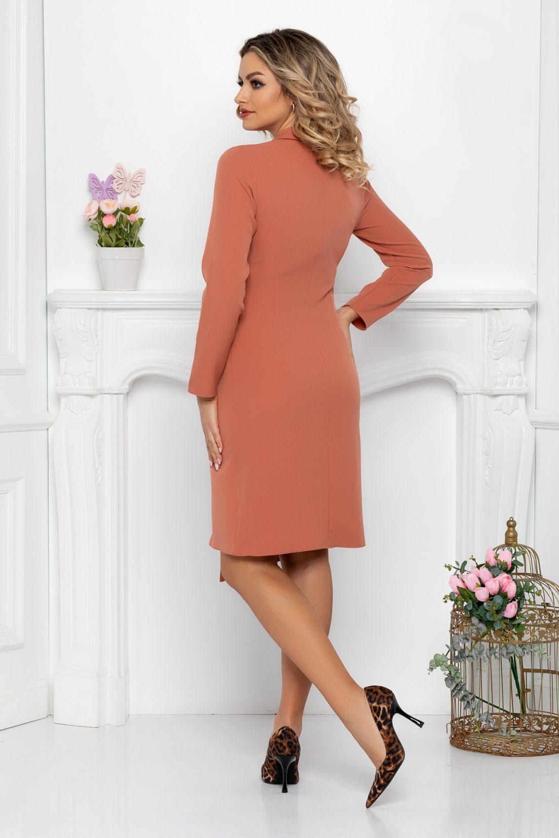 Φόρεμα Με Κουμπιά Σάπιο Μήλο Yndira 9445 2