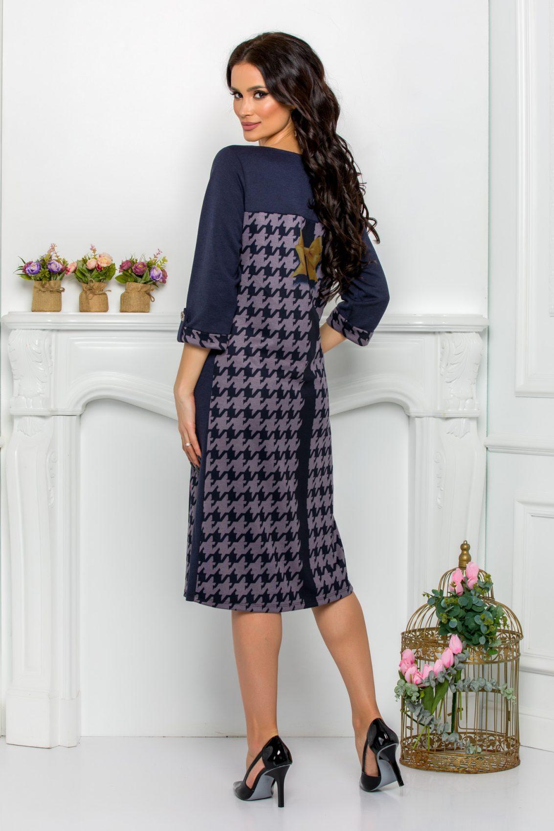 Πετρόλ Μίντι Φόρεμα Plus Size Selma 9555 2