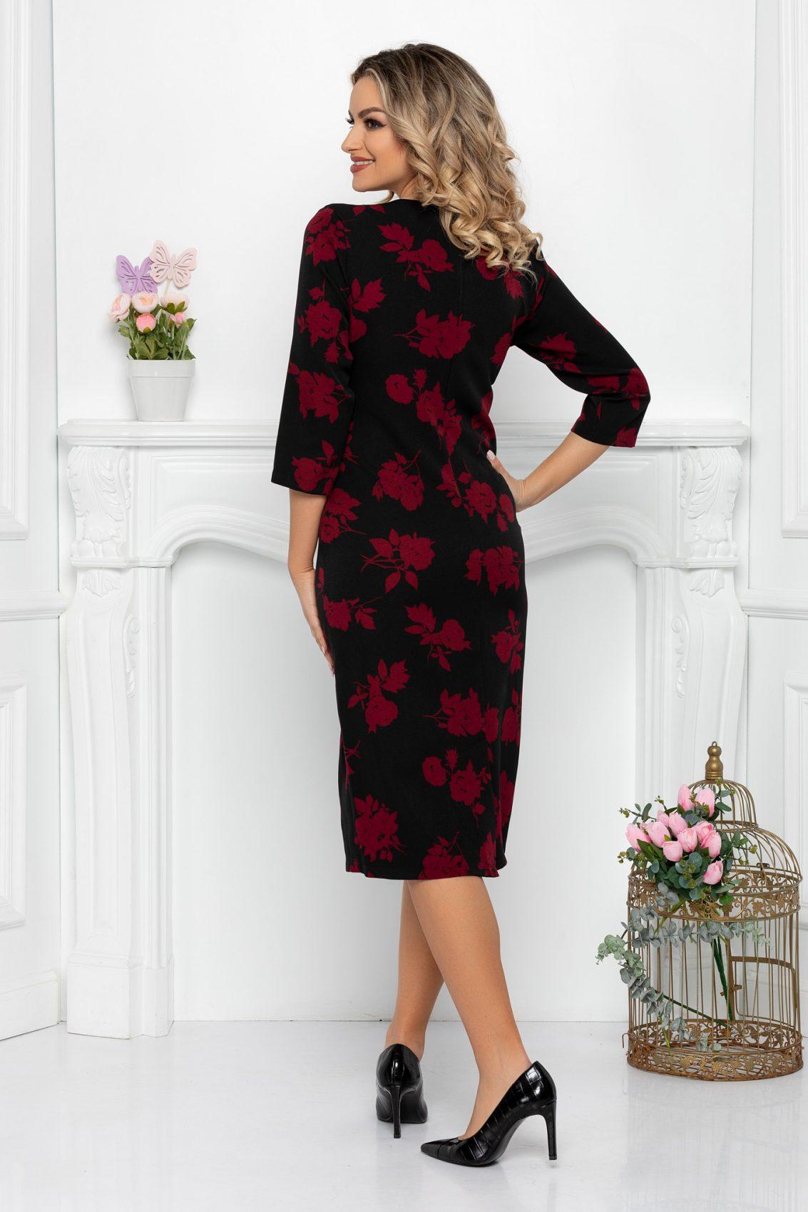 Μαύρο Μίντι Φόρεμα Judith 9411 2