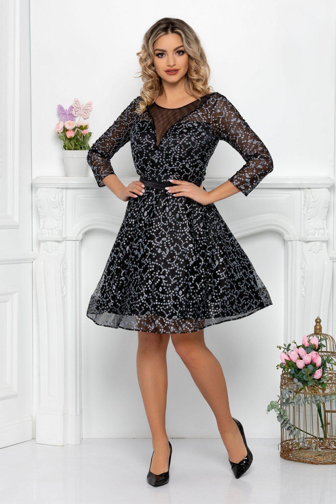 Μαύρο Βραδινό Φόρεμα Cecille 9339 3