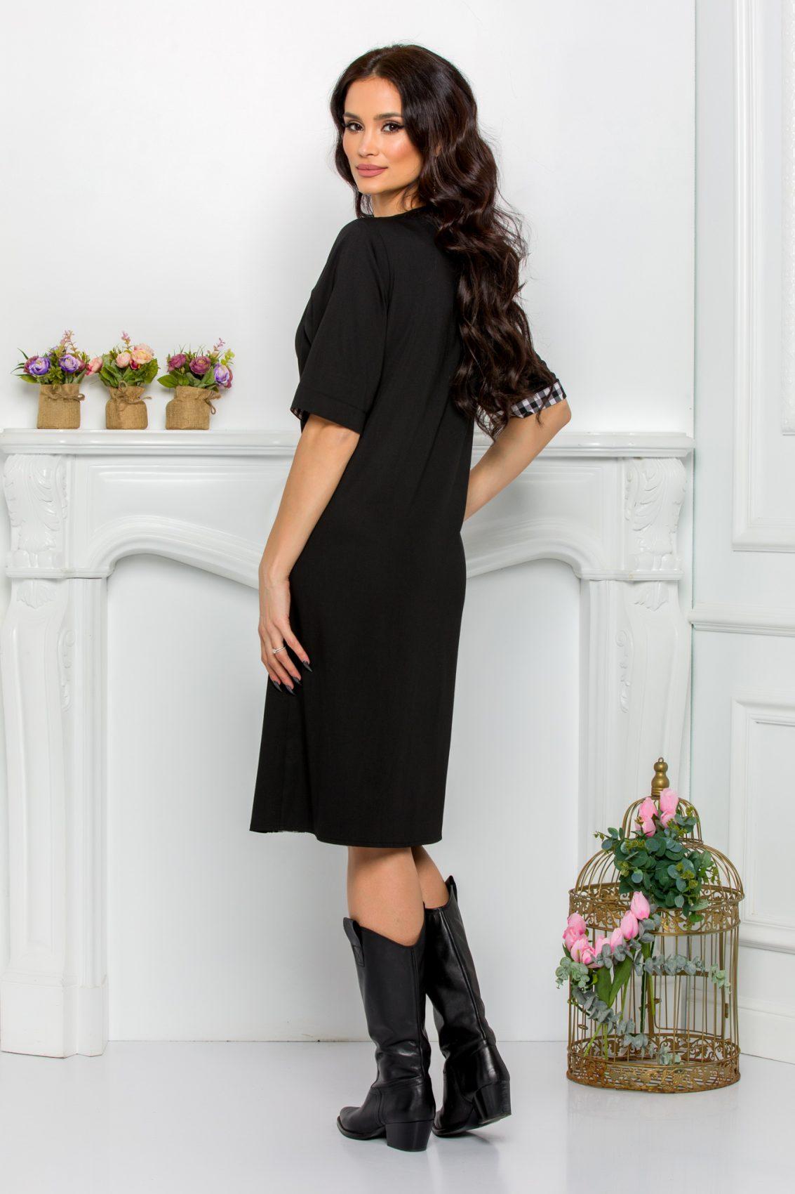 Μαύρο Φόρεμα Plus Size Ydda 9542 2