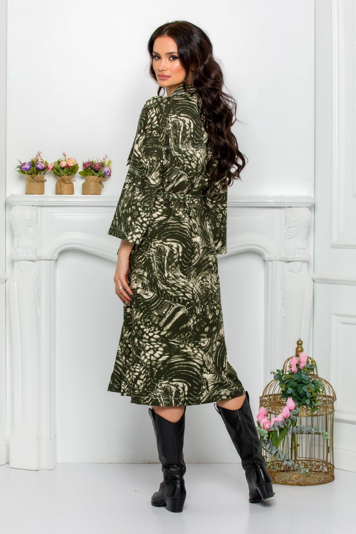 Πράσινο Φόρεμα Με Φερμουάρ Plus Size Dafne 9534 2
