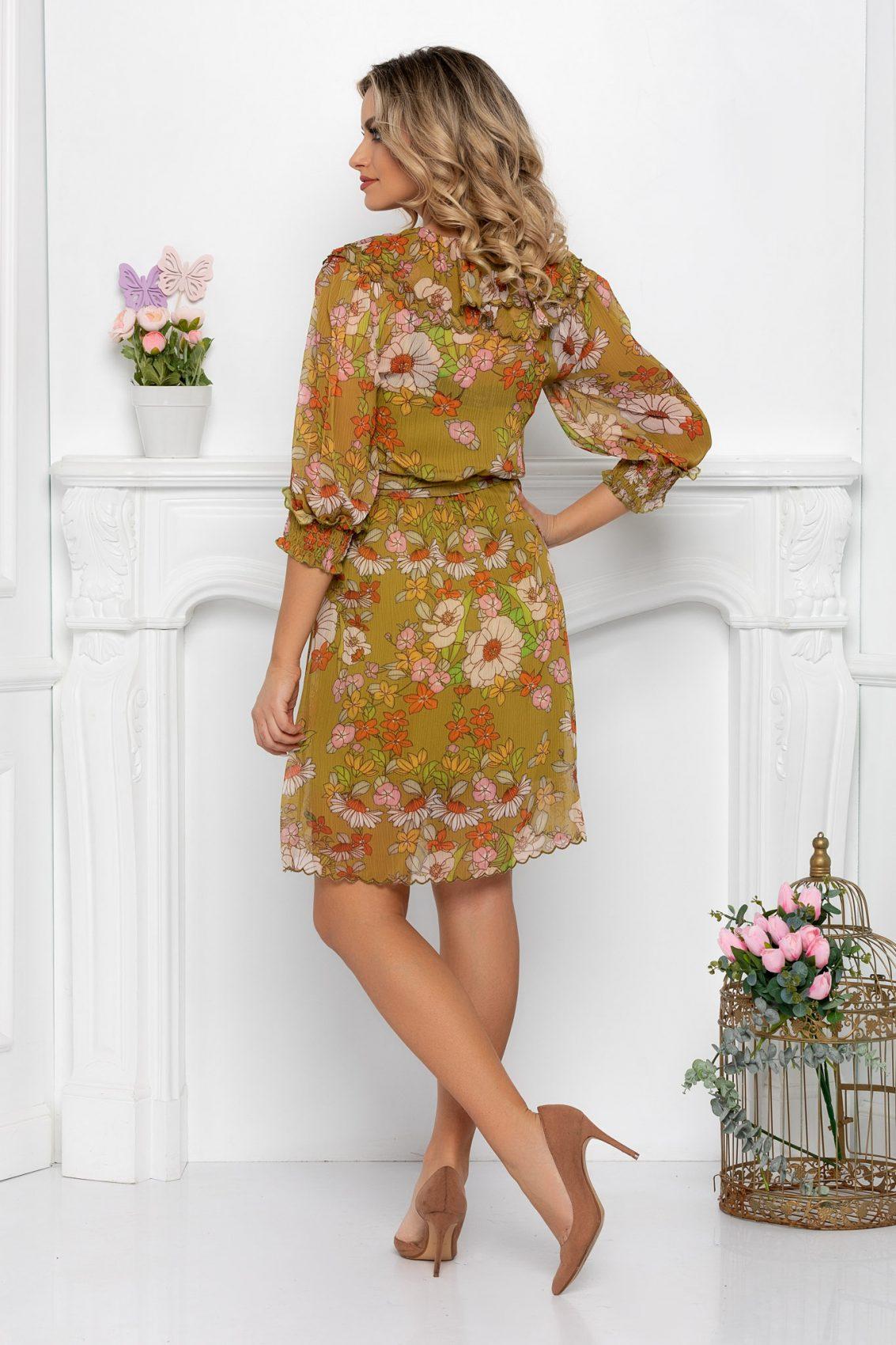 Φλοράλ Φόρεμα Με Βολάν Christine 9442 2