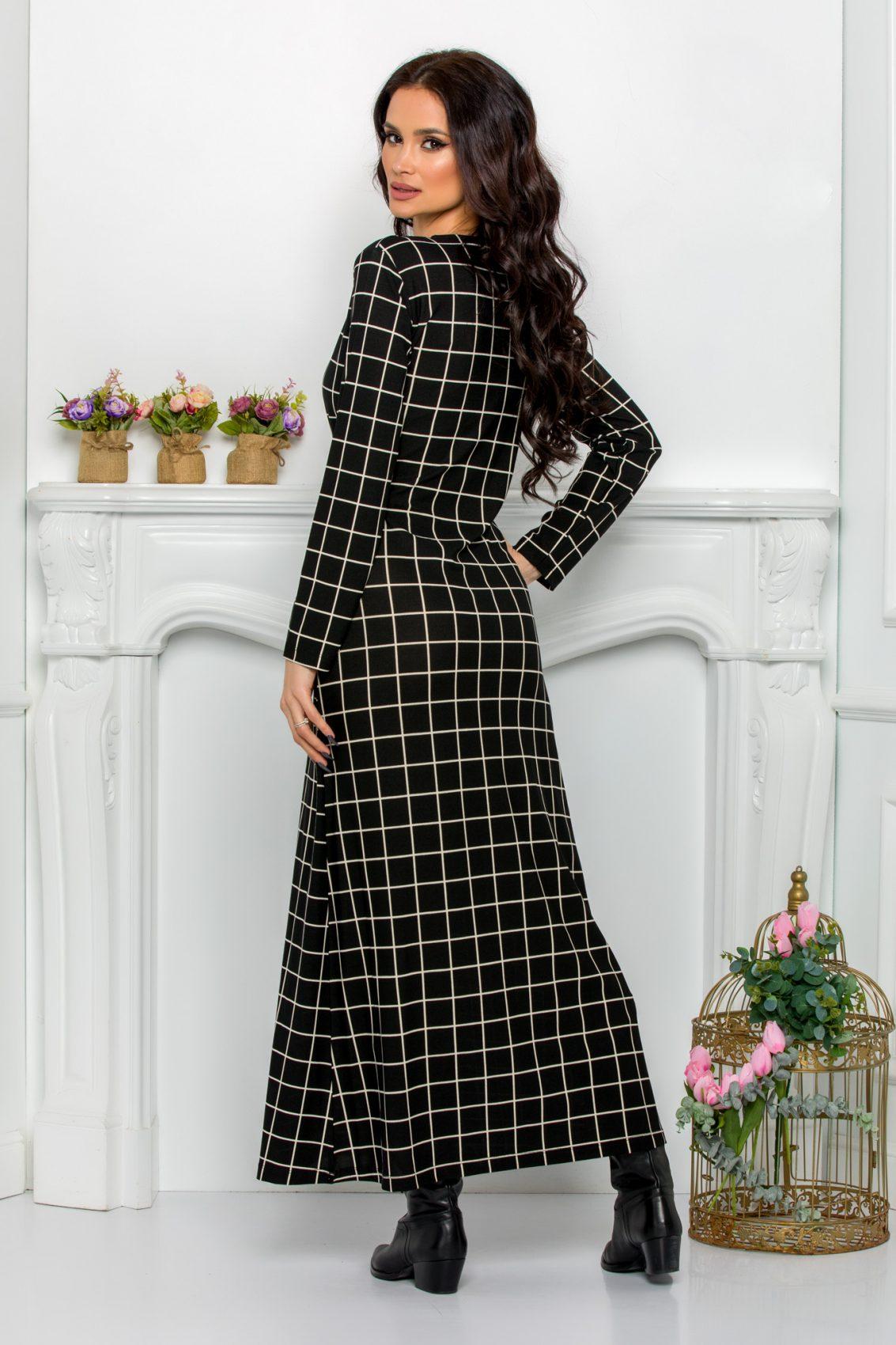 Ασπρόμαυρο Φόρεμα Kalinya 9627 2
