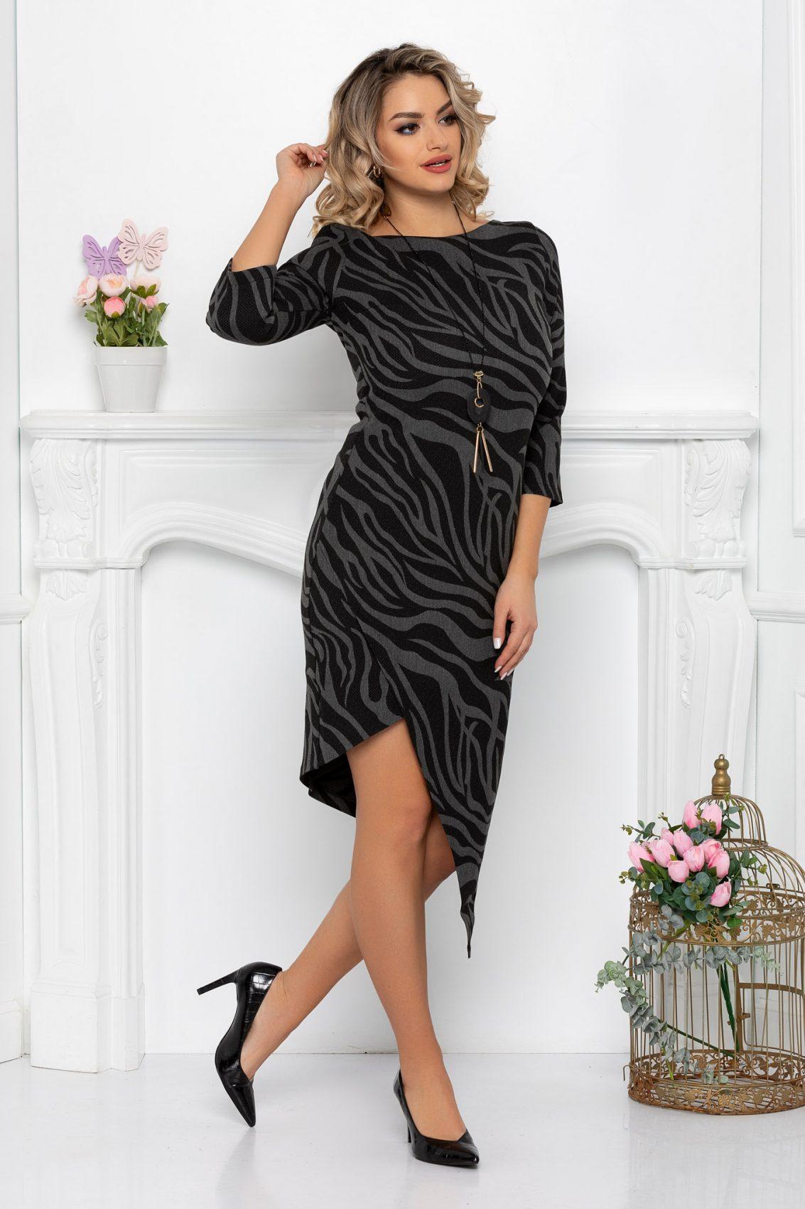 Μαύρο Φόρεμα Bridget 7153 1