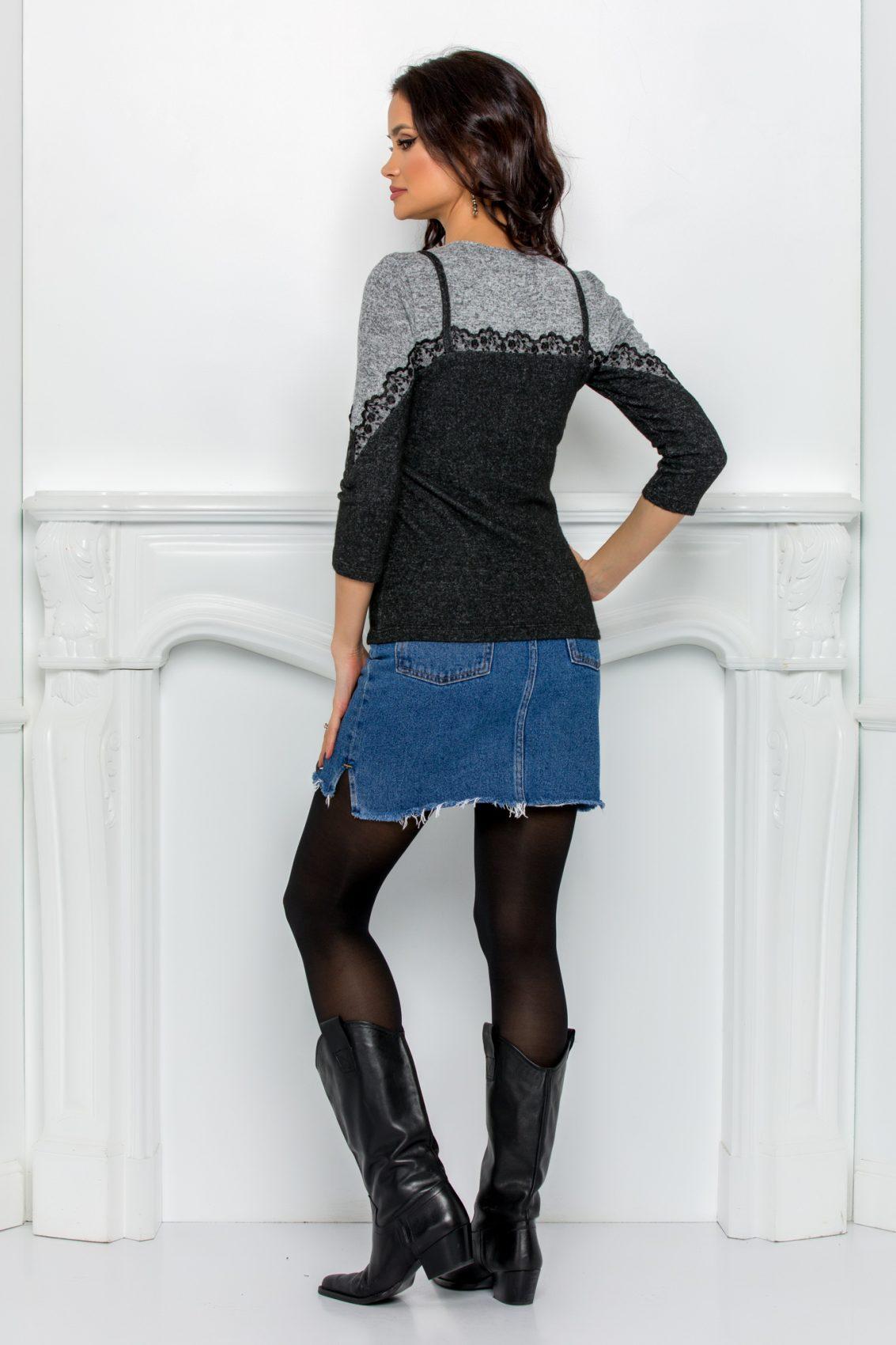 Μαύρη Μπλούζα Με Δαντέλα Marisa 9654 2