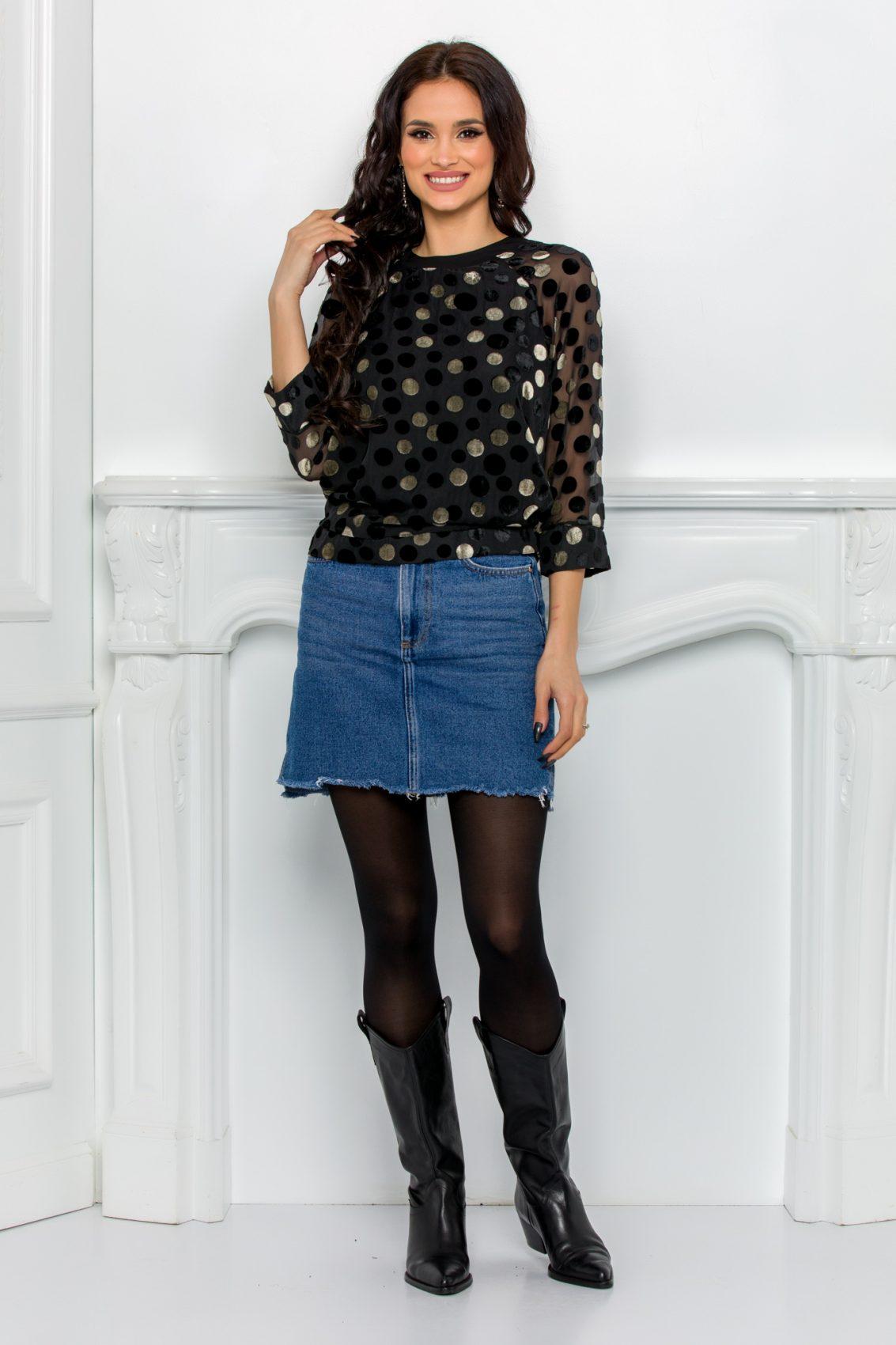 Μαύρη Μπλούζα Dora 9659 5