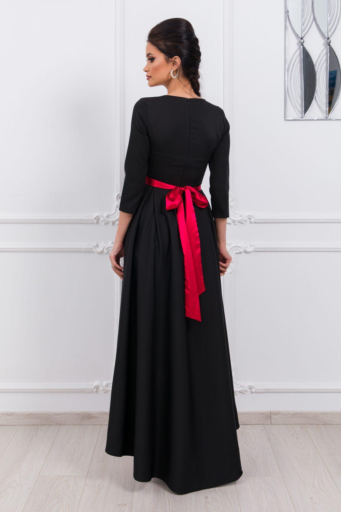 Μαύρο Ασύμμετρο Φόρεμα Attractive 9777 2