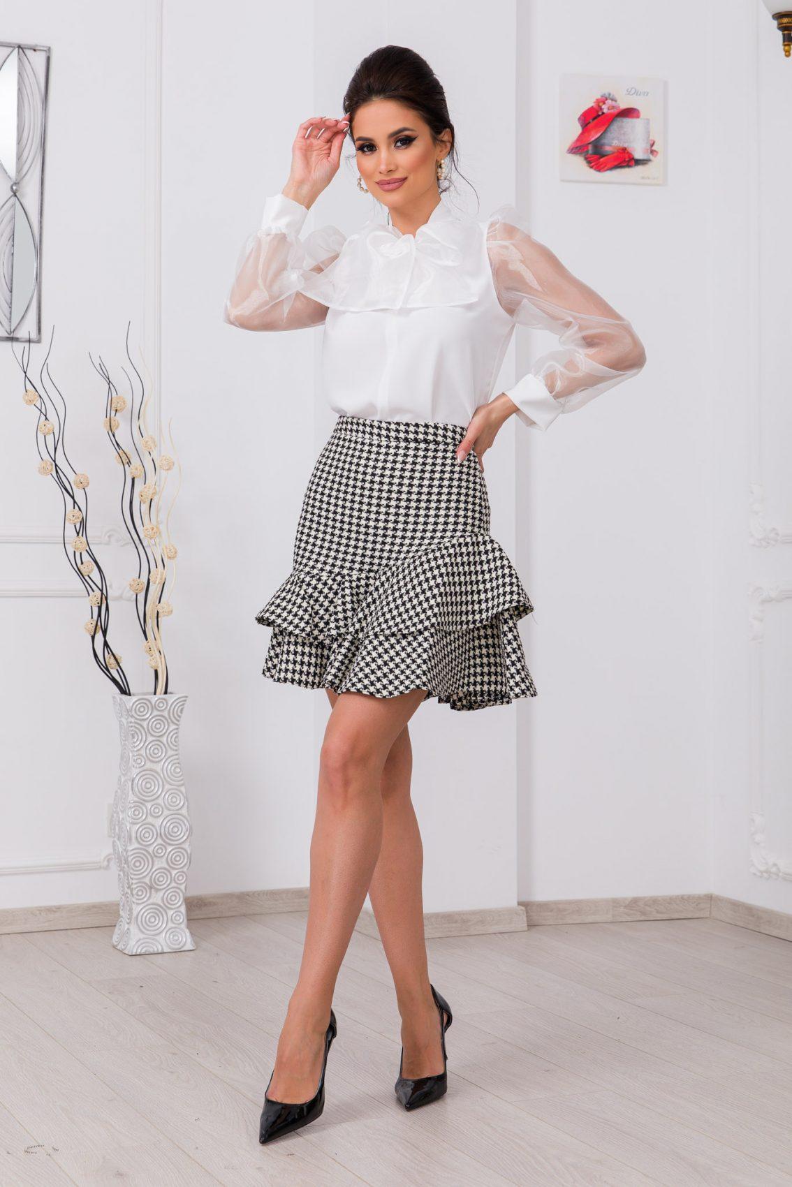 Καρό Φούστα Με Βολάν Kelly 8266 1