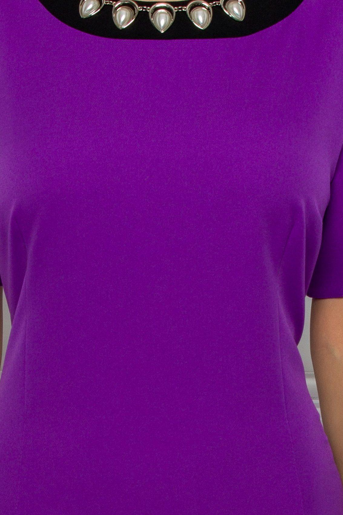 Μίντι Μωβ Φόρεμα Evolette 9506 3