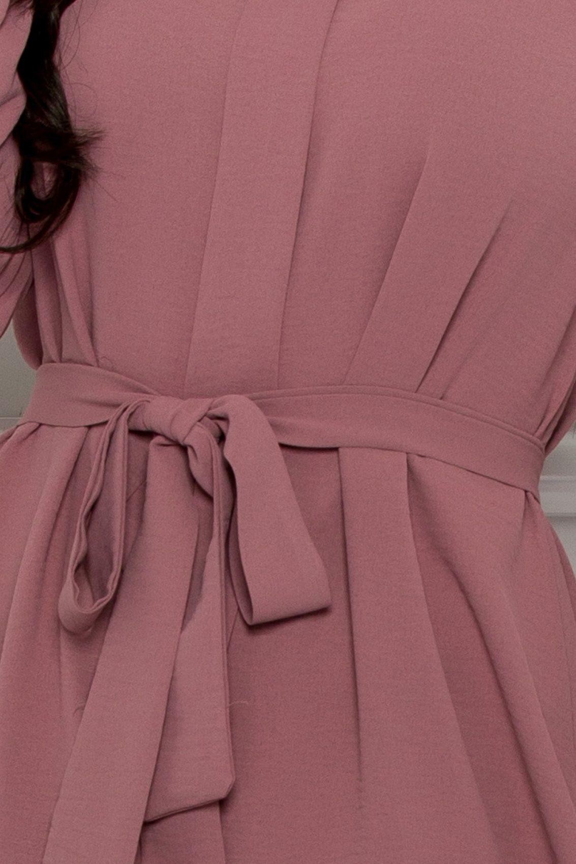 Λιλά Φόρεμα Με Βολάν Rhea 9538 3