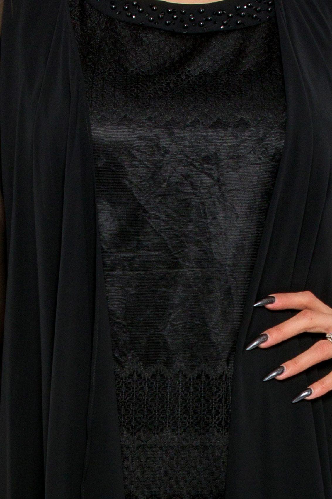 Μαύρο Φόρεμα Με Ασύμμετρο Μπολερό Georgina 9516 3