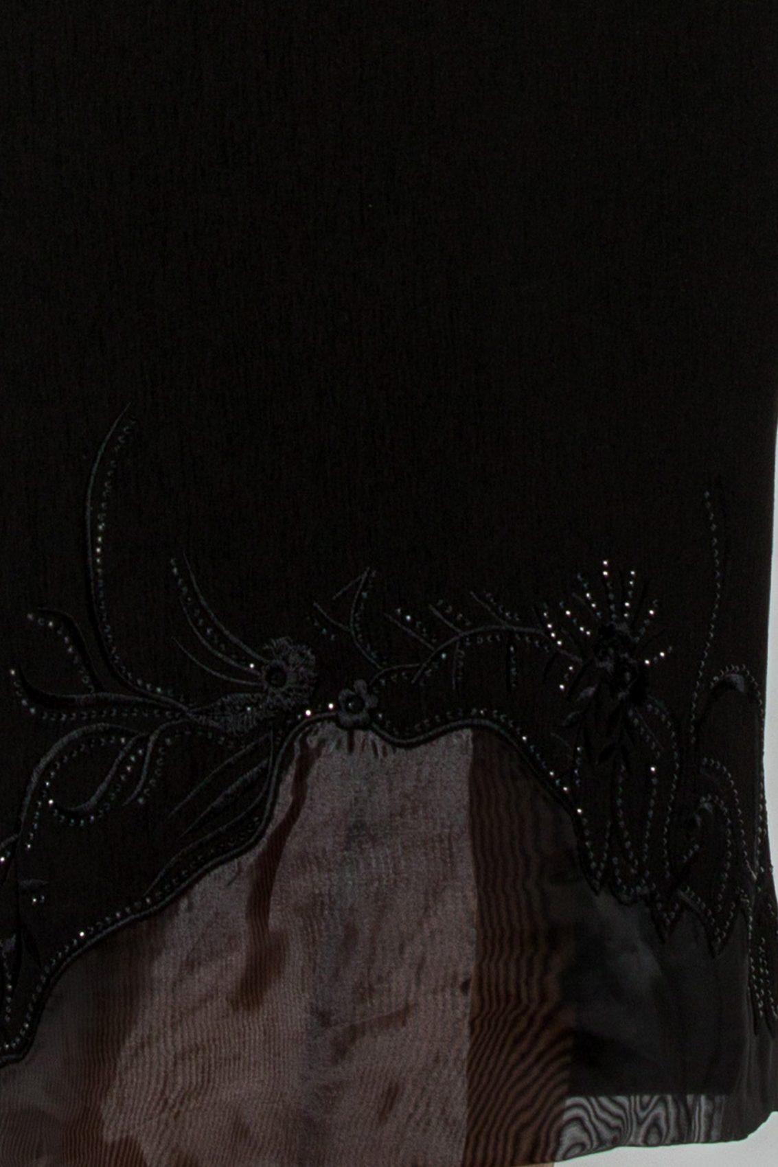 Μαύρο Μίντι Φόρεμα Plus Size Melyna 9520 3