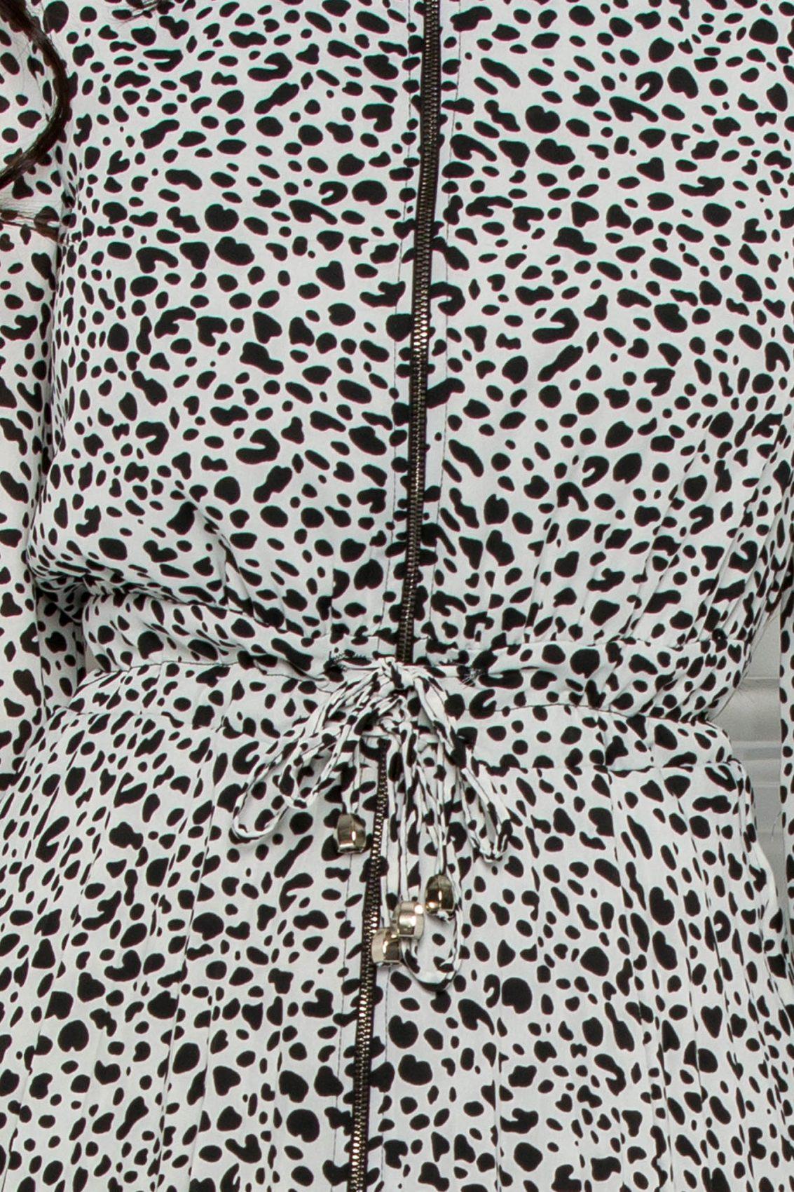 Ασπρόμαυρο Φόρεμα Με Φερμουάρ Yola 9556 3