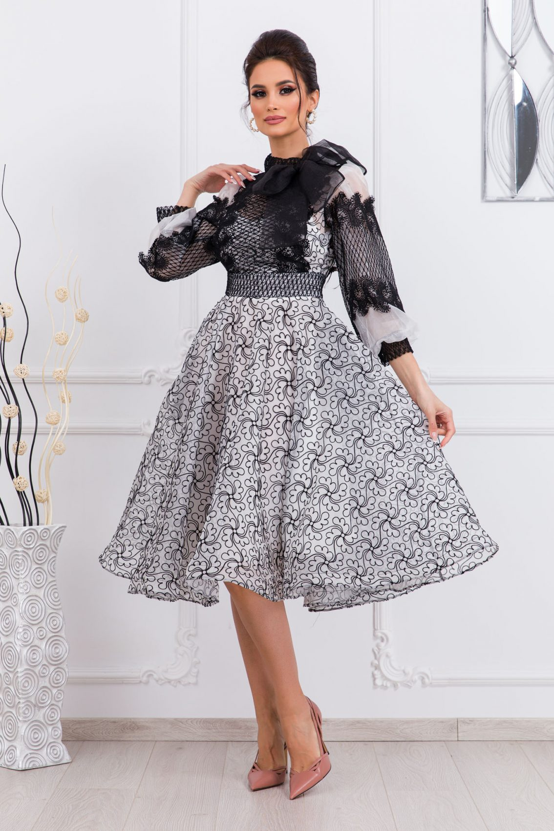 Βραδινό Φόρεμα Με Δαντέλα Radiant 9749 3