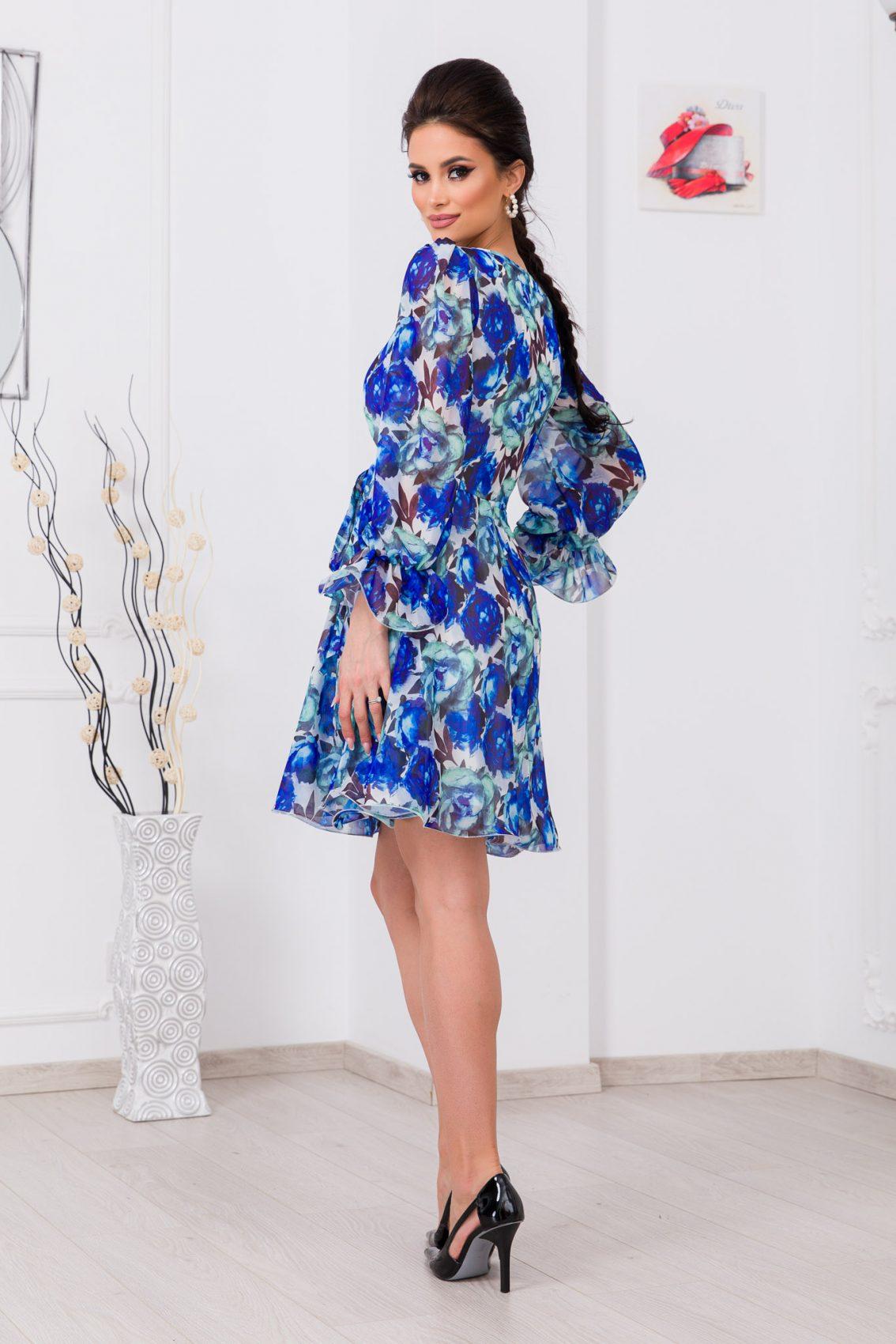 Μπλε Κρουαζέ Κλος Φόρεμα Simine 9667 2