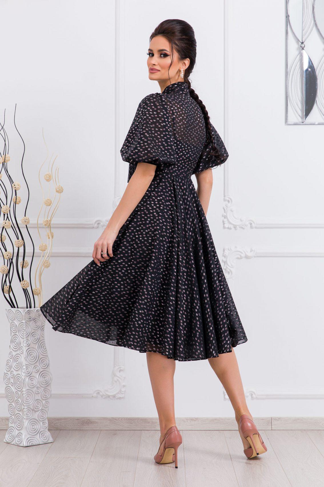 Μαύρο Βραδινό Φόρεμα Με Φιόγκο Sensational 9740 2