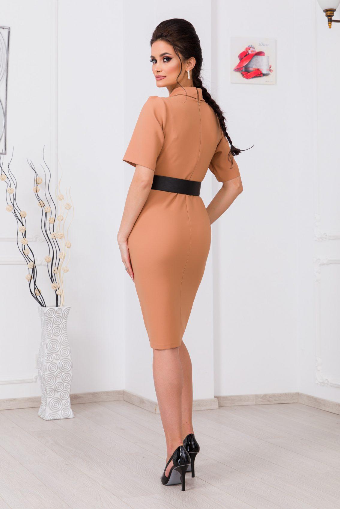 Ταμπά Φόρεμα Με Ζώνη Evitta 9710 2