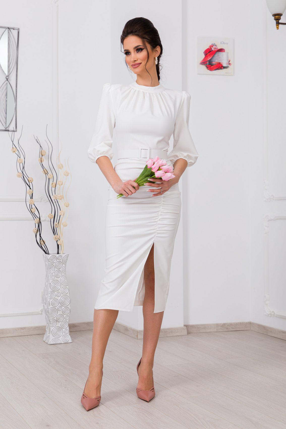 Λευκό Φόρεμα Fiorella 9766 1