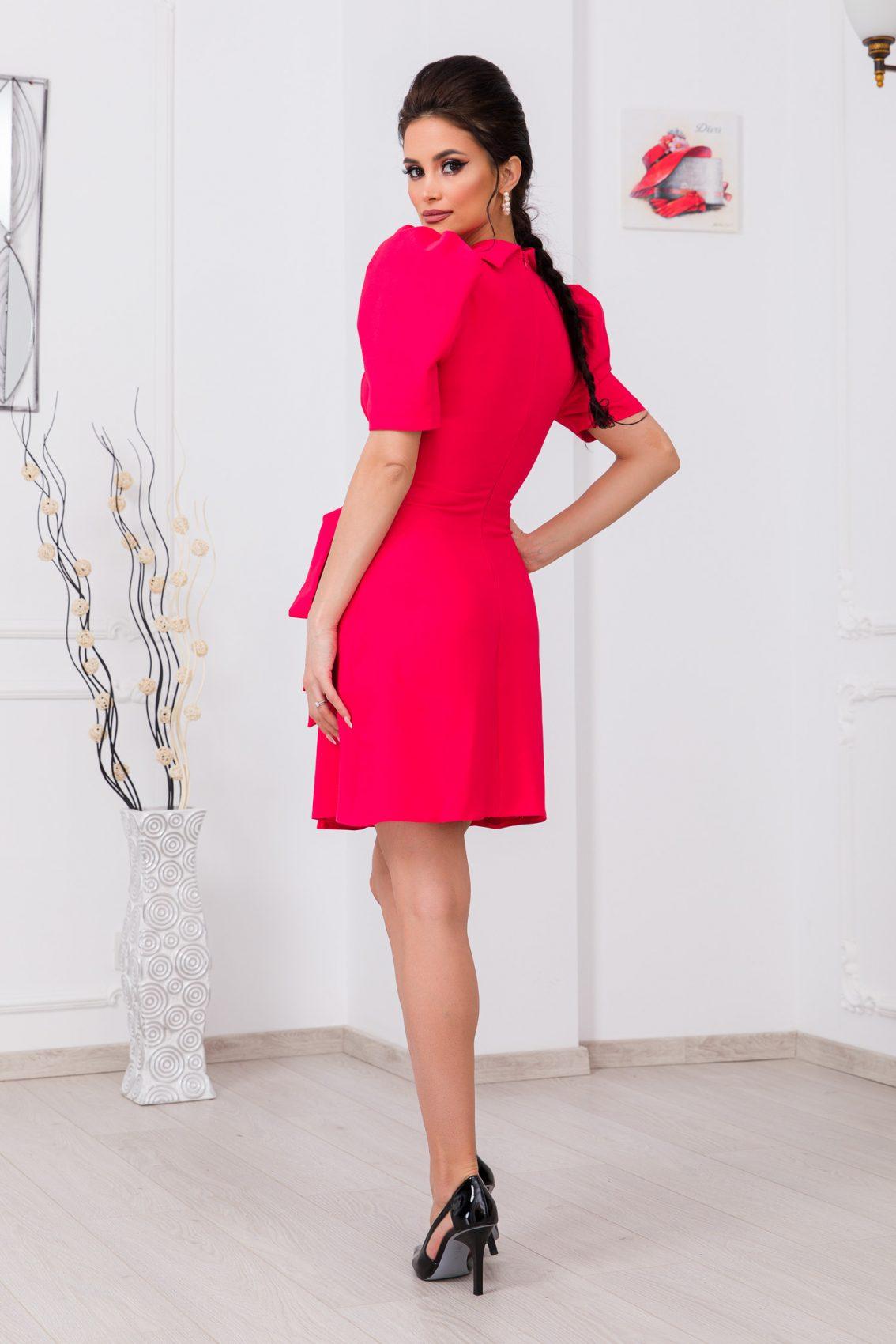 Κοραλί Κρουαζέ Φόρεμα Bredda 9775 2