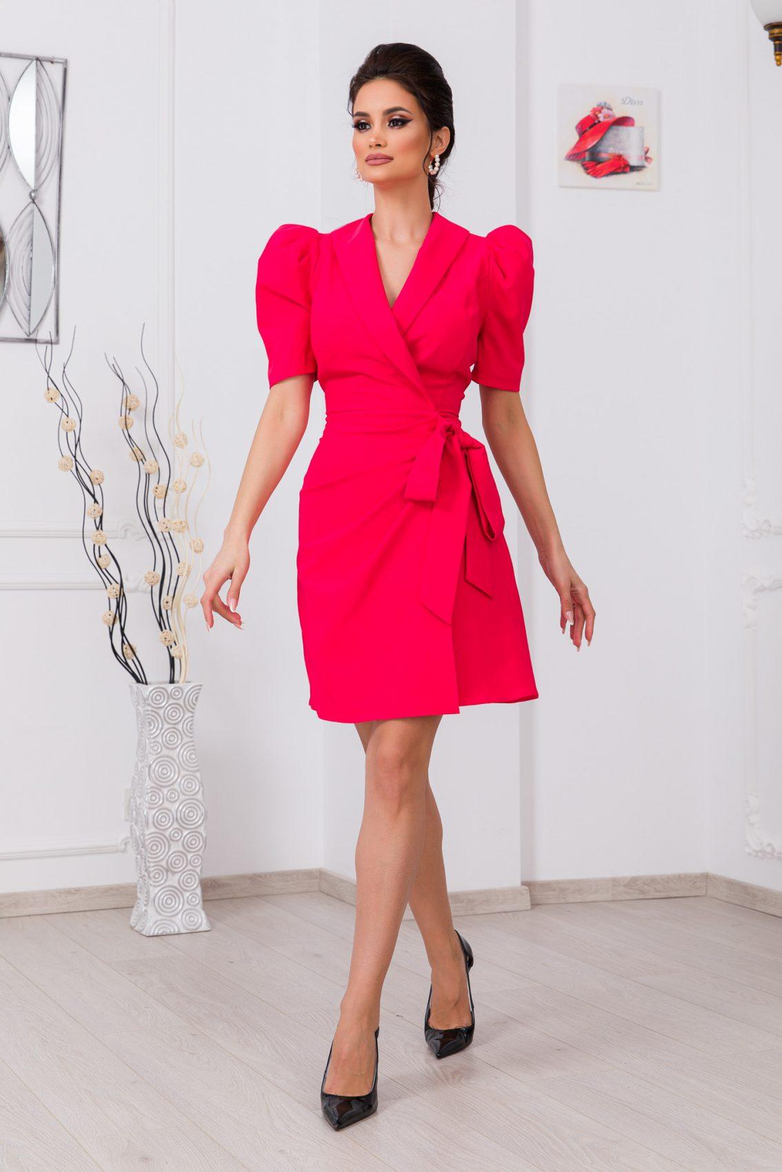 Κοραλί Κρουαζέ Φόρεμα Bredda 9775 1