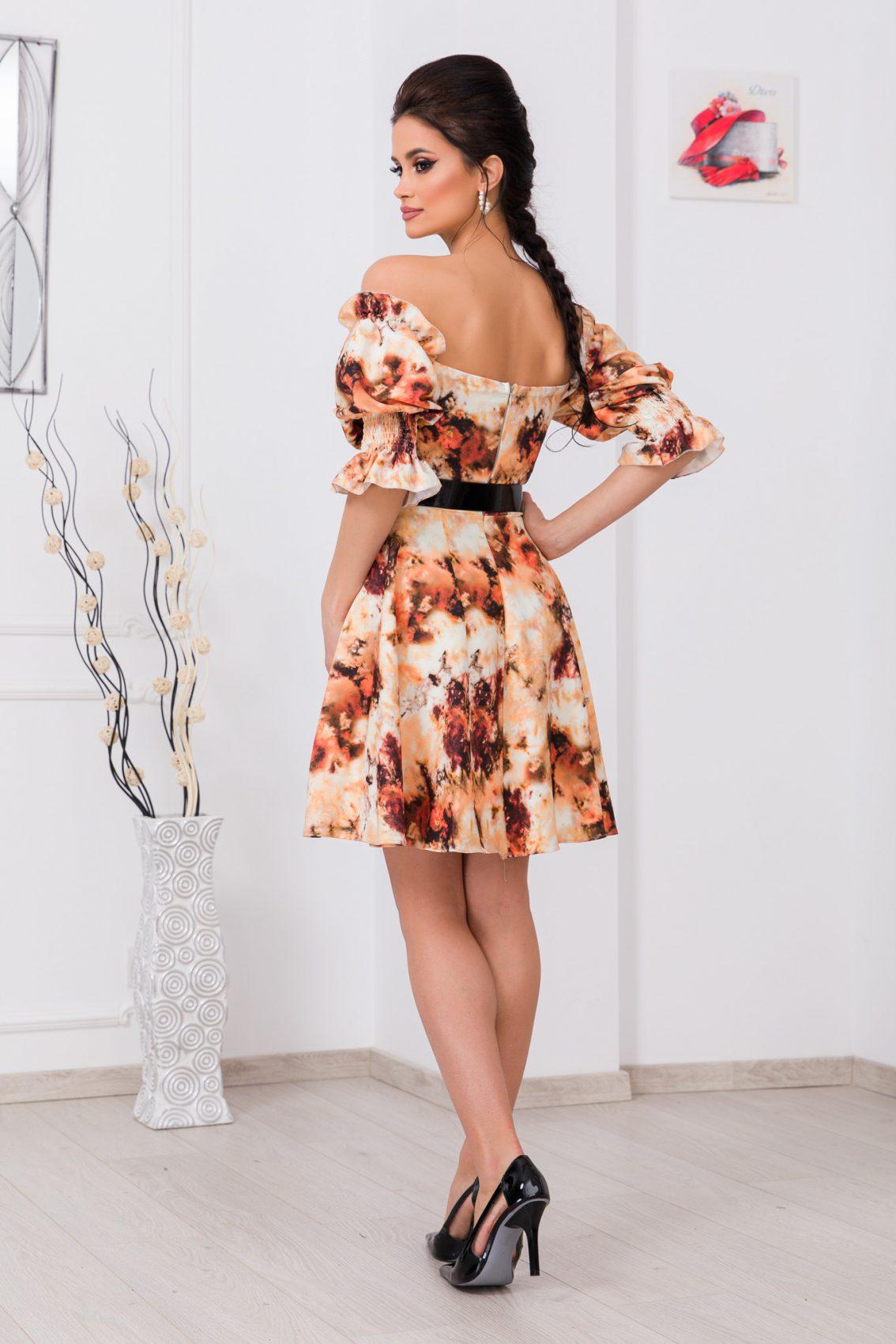 Παστέλ Φόρεμα Με Ζώνη Elixir 9726 2