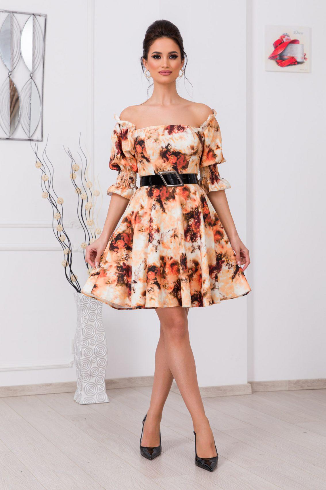 Παστέλ Φόρεμα Με Ζώνη Elixir 9726 1