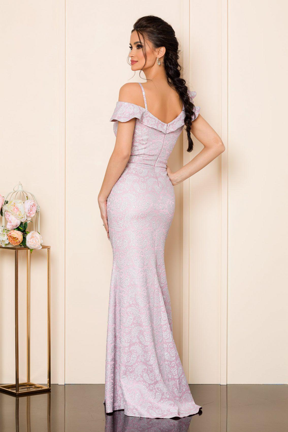 Ροζ Μάξι Φόρεμα Sirenna 9851 2