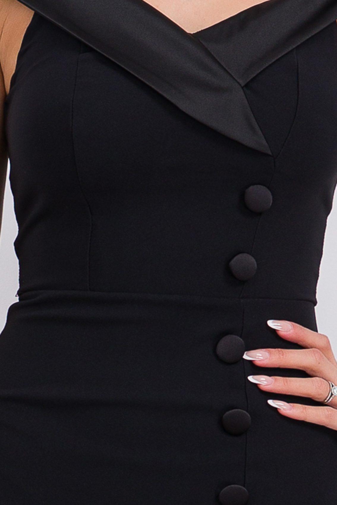 Μαύρο Μίντι Φόρεμα Edina 9780 4