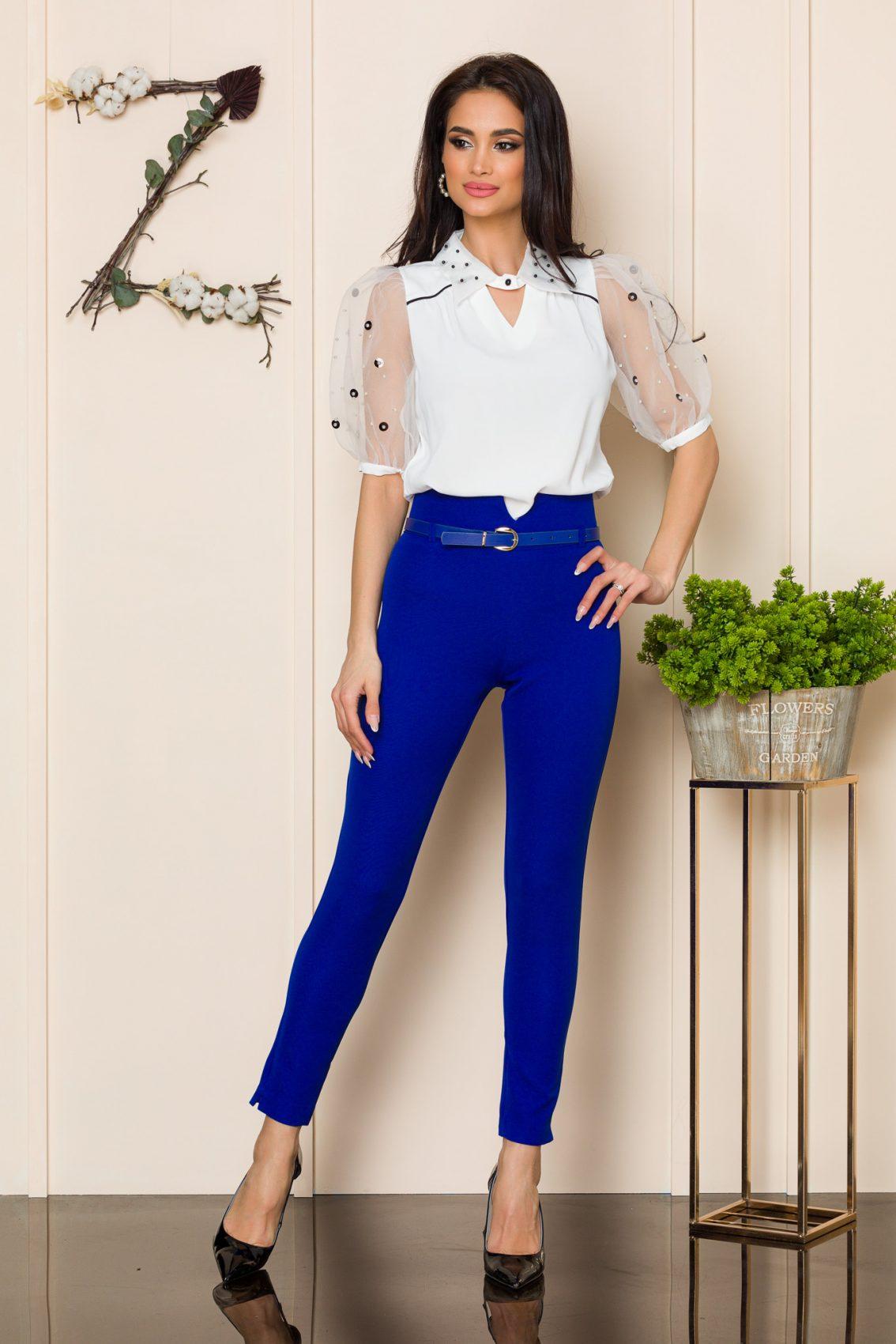 Μπλε Ρουά Παντελόνι Με Ζώνη Brasil 9914 1