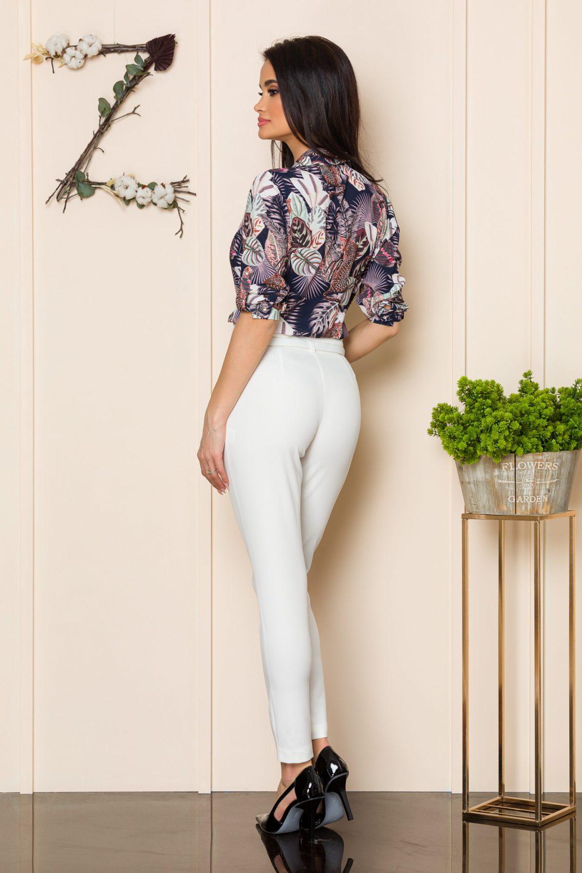 Λευκό Παντελόνι Με Ζώνη Brasil 9912 2