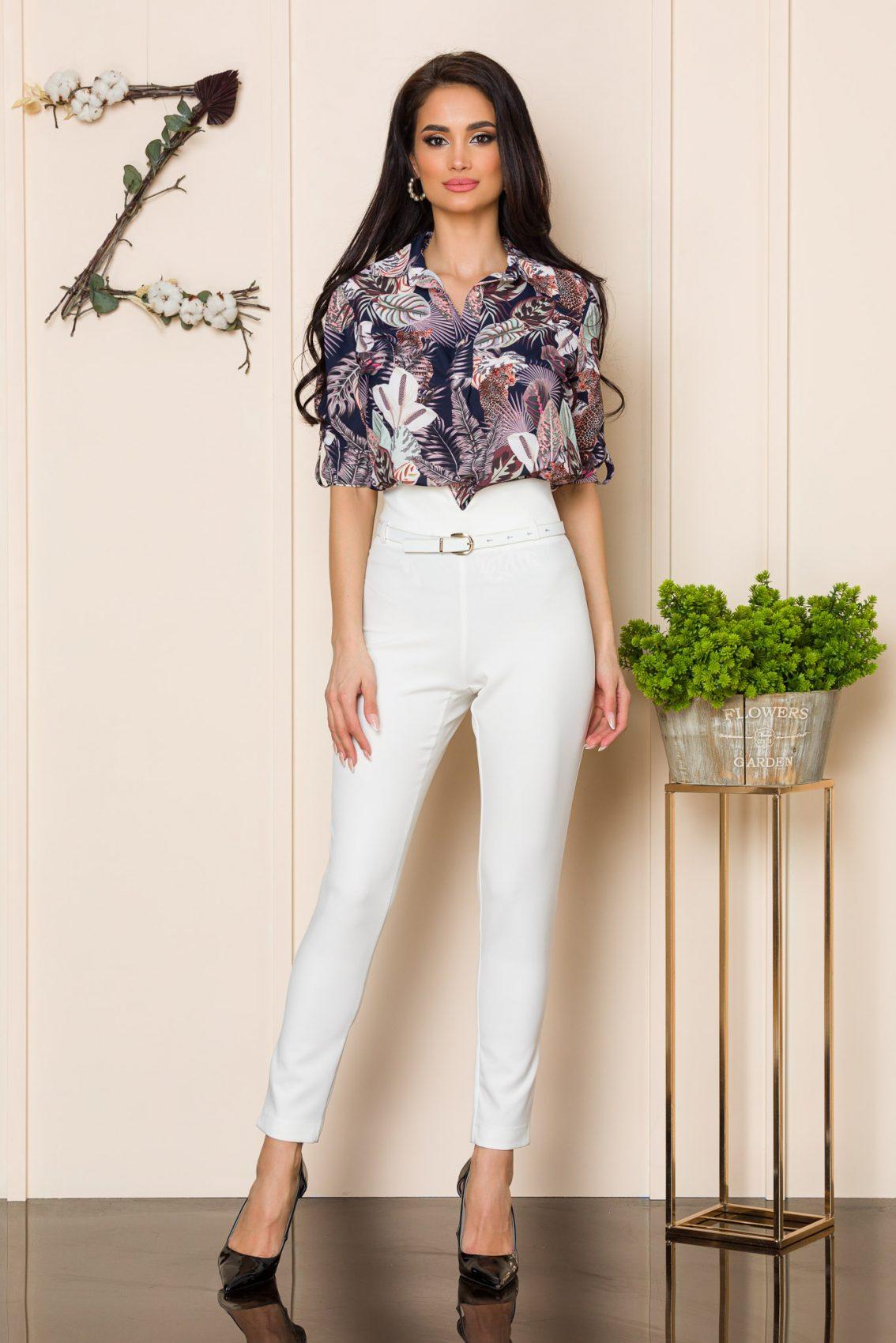 Λευκό Παντελόνι Με Ζώνη Brasil 9912 1