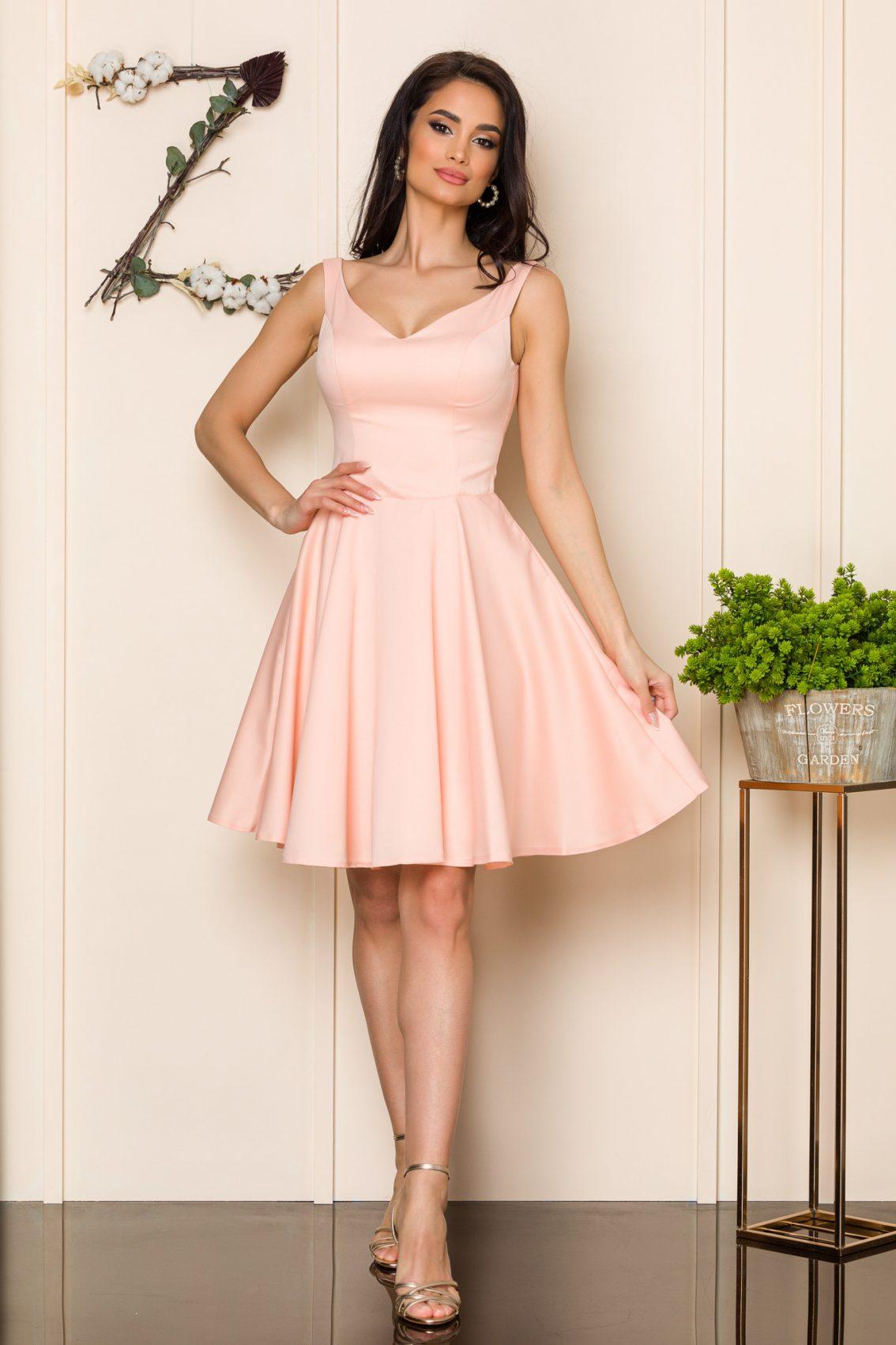Ροζ Αμάνικο Φόρεμα Querida 9896 1