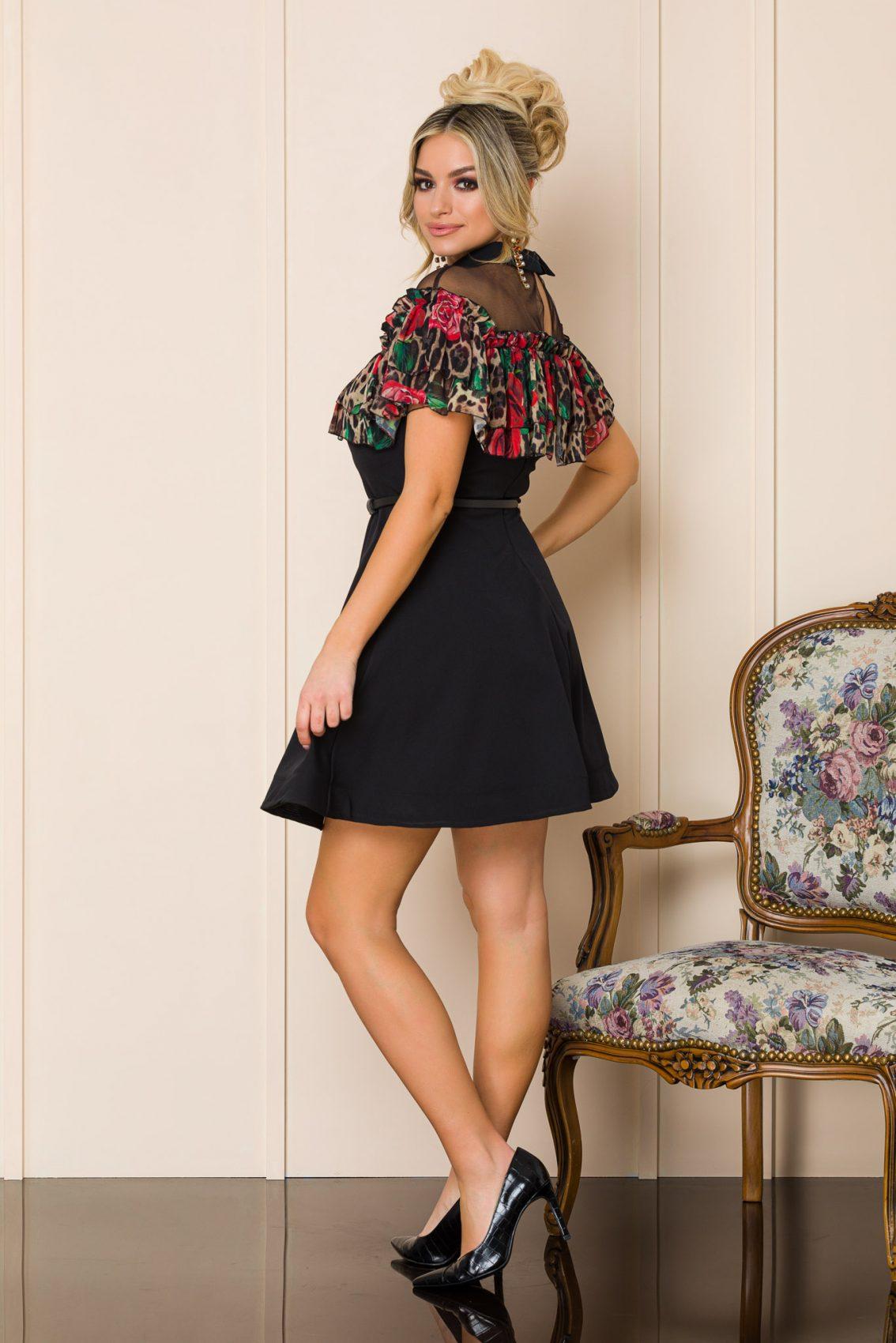 Μίνι Μαύρο Κλος Φόρεμα Brigitte 9923 2