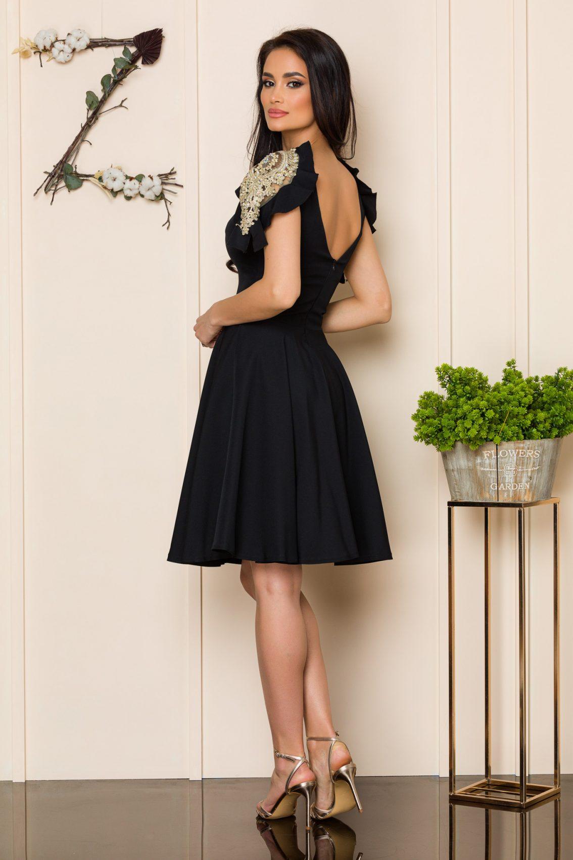 Μαύρο Αμπιγιέ Φόρεμα Ivy A190 2