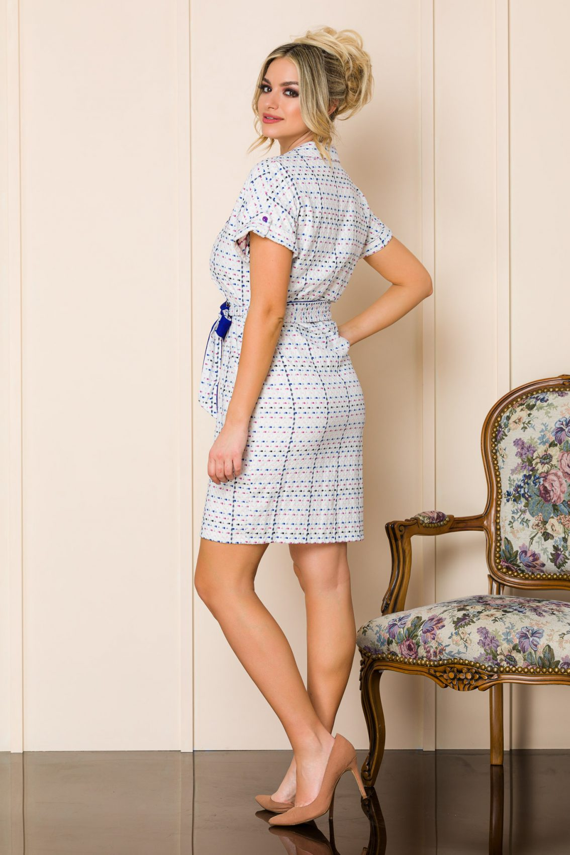 Καθημερινό Λευκό Φόρεμα Janelle 9893 4