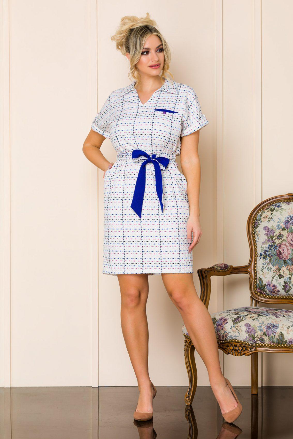 Καθημερινό Λευκό Φόρεμα Janelle 9893 5