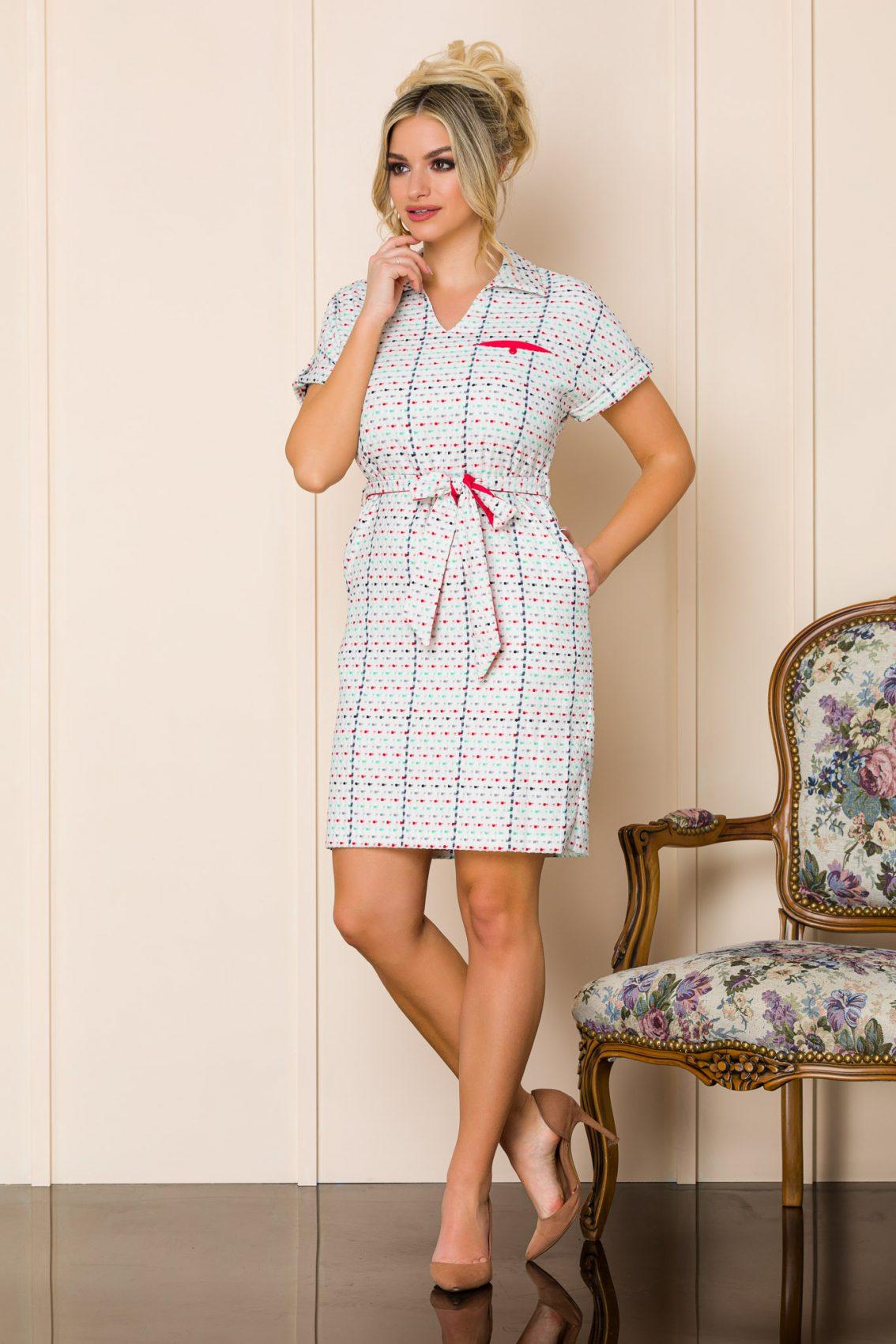 Λευκό Καθημερινό Φόρεμα Janelle 9892 1