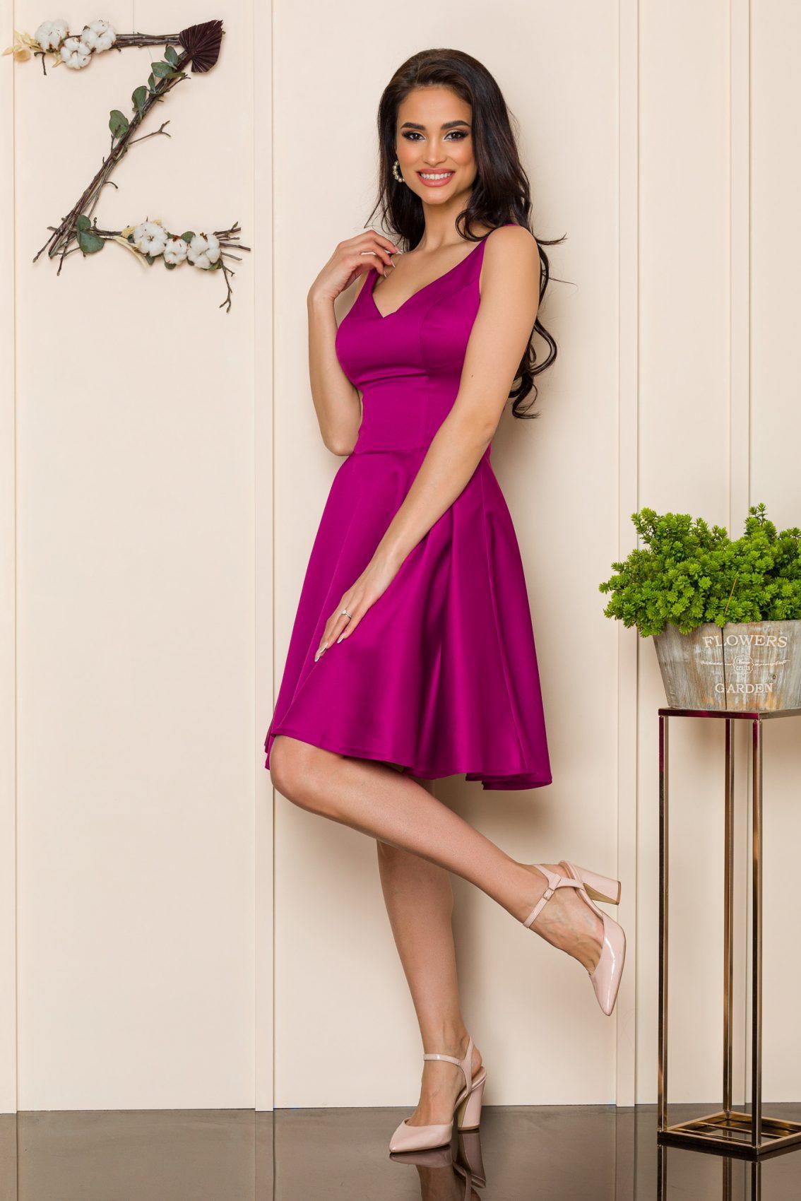 Μωβ Αμάνικο Φόρεμα Querida 9894 1