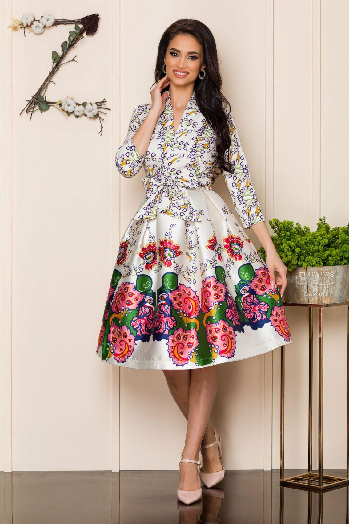 Ιβουάρ Μίντι Αμπιγιέ Φόρεμα Natasha 9906 1
